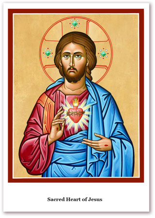 Sacred Heart Holy Cards