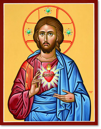 "Sacred Heart original icon 20"" tall"