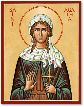 Saint Agatha icon
