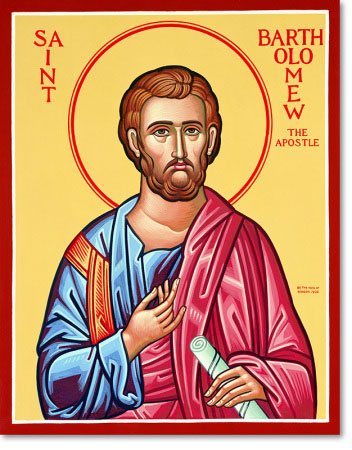 "Saint Bartholomew original icon 14"" tall"