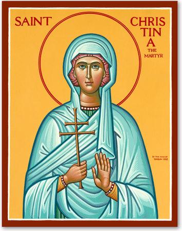 Saint Christina the Great Martyr Original Icon