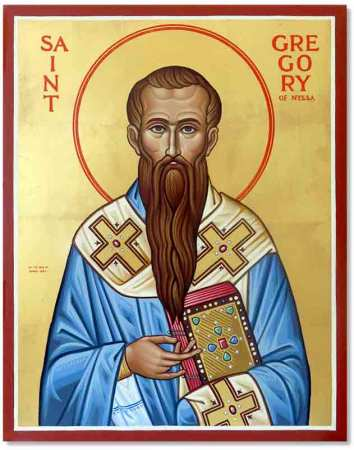 Saint Gregory of Nyssa Original Icon