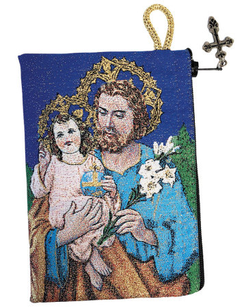 Saint Joseph Rosary Pouch