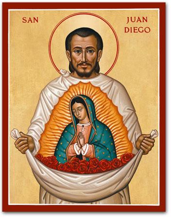 Saint Juan Diego icon