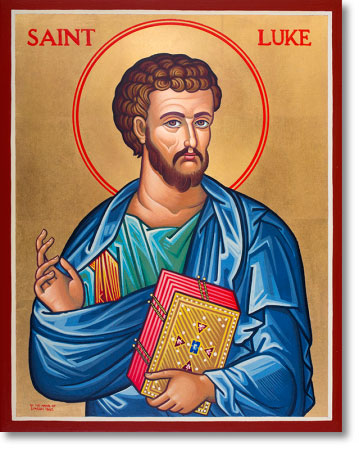 "Saint Luke the Evangelist original icon 14"" tall"