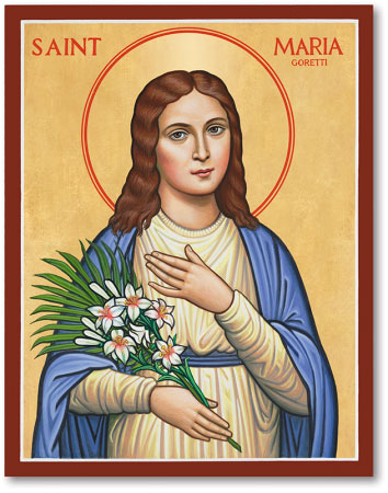 women saints saint maria goretti icon monastery icons