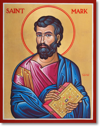 "Saint Mark the Evangelist original icon 14"" tall"