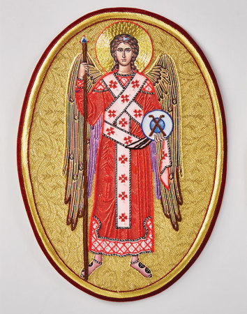Saint Michael vestment emblem