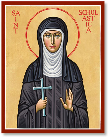 Saint Scholastica icon