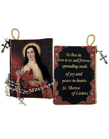 Saint Therese Rosary Pouch