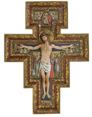 San Damiano Handpainted Crucifix - Medium