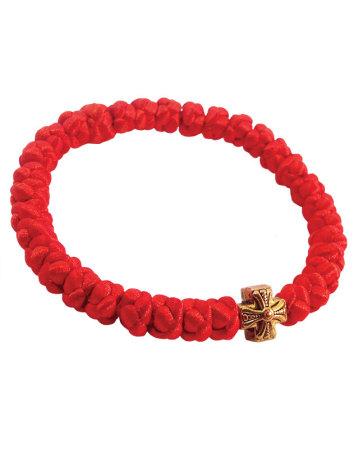 Satin prayer bracelet - burgundy