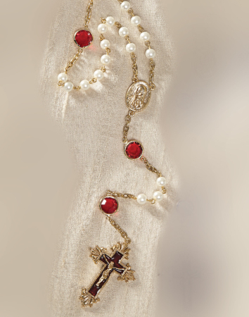 ON SALE Ruby and Pearl Rosary