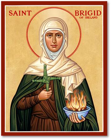 Women Saints St Brigid Icon Monastery Icons