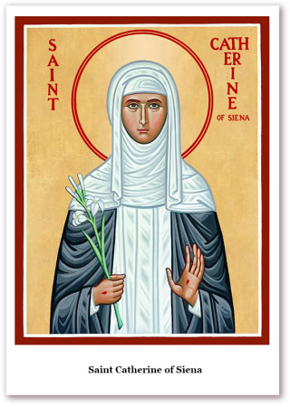 St. Catherine of Siena Holy Cards