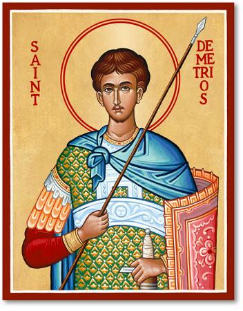 Men Saint Icons St Demetrios Icon Monastery Icons
