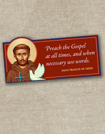 St Francis Inspirational Magnet