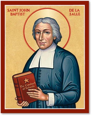 Men Saint Icons St John Baptiste De La Salle Icon