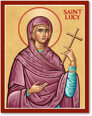 Women Saints St Lucy Icon Monastery Icons