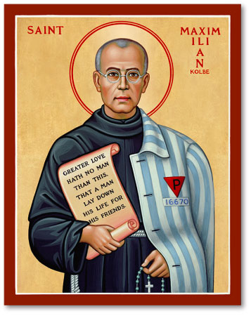 Men Saint Icons St Maximilian Kolbe Icon