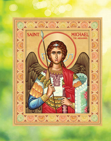 St Michael Icon Window Vinyl