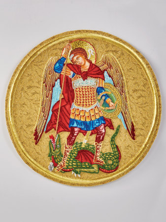 St Michael the Defender vestment emblem