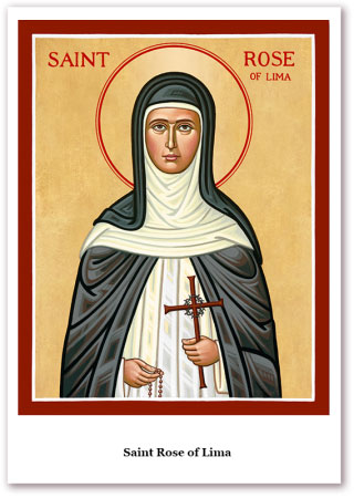 St. Rose of Lima Holy Cards