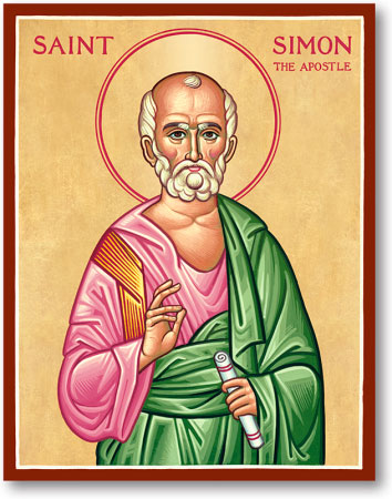 St Simon the Zealot icon