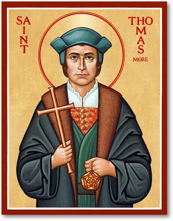 Men Saint Icons St Thomas More Icon Monastery Icons