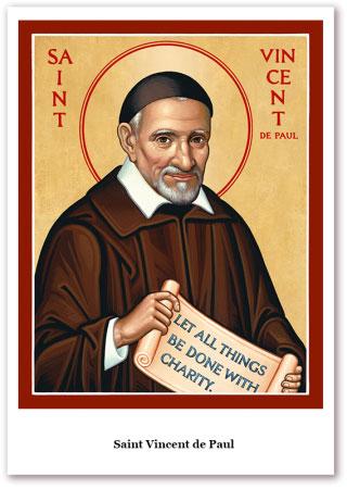 St. Vincent de Paul Holy Cards