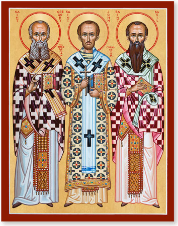 Three Holy Hierarchs icon