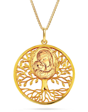 Tree of Life Madonna Pendant