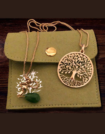 Tree of Life Pendant - Brass