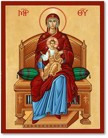 Virgin Enthroned icon