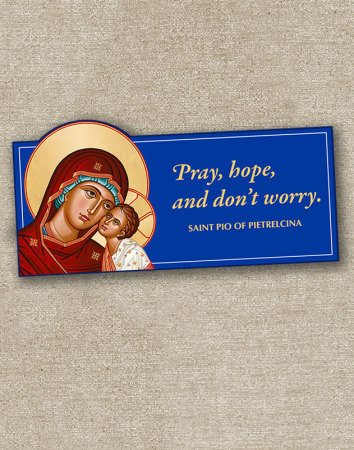 Virgin Mary Inspirational Magnet