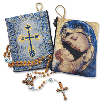 Virgin Mary Rosary Pouch