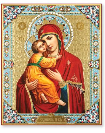 Virgin of Vladimir Embossed Icon
