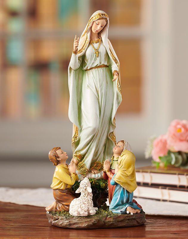 Our Lady and the Children of Fatima Figurine