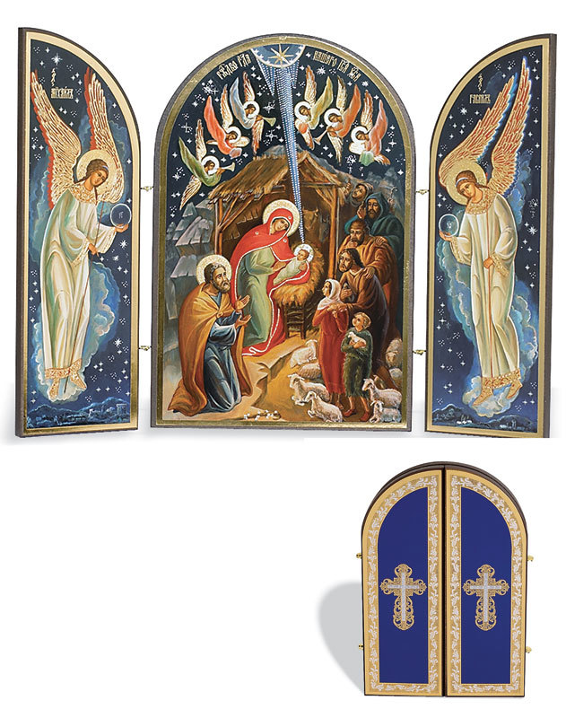 Russian Nativity Triptych