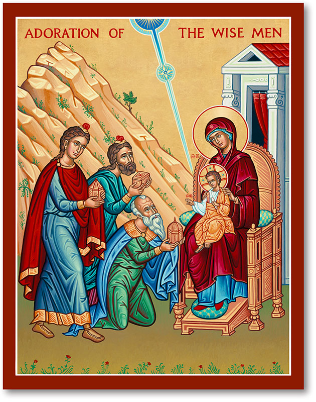 Adoration of Wise Men Icon