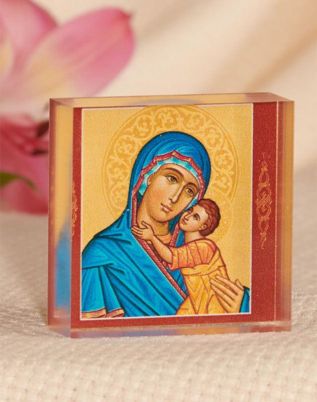 Blue Madonna Acrylic Glass Desktop Icon