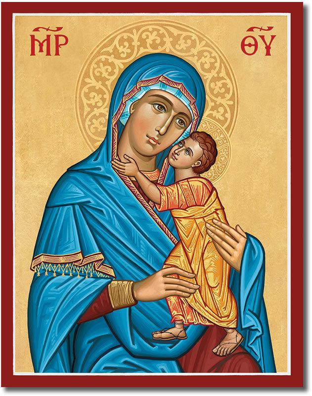 Blue Madonna Icon