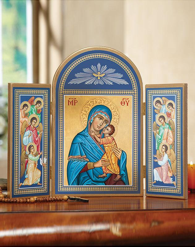 Blue Madonna Triptych