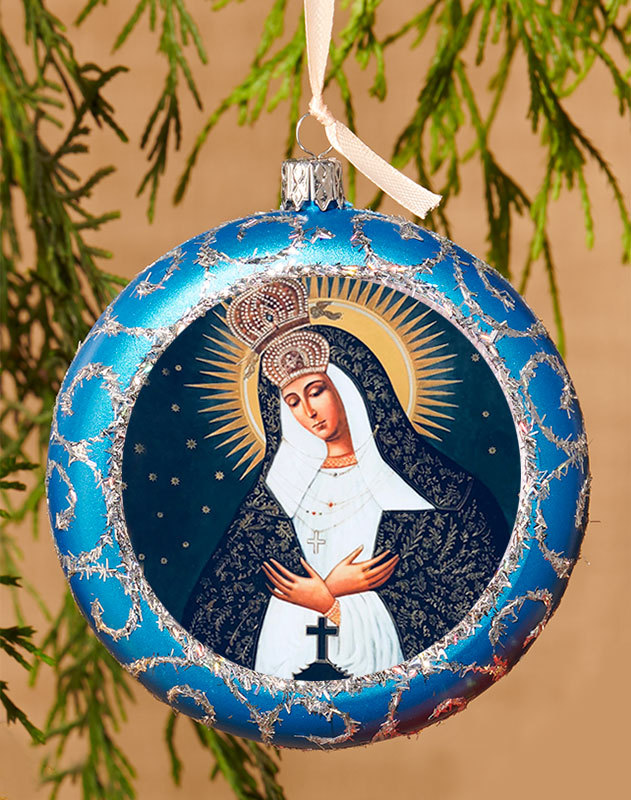 Blue ornament - Our Lady of Ostrabrama