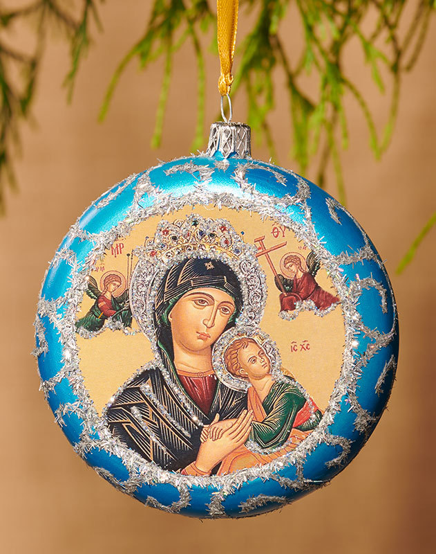 Blue ornament - Perpetual Help