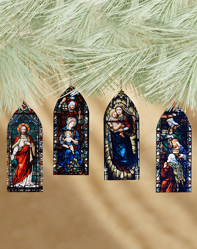 Cathedral Windows Ornament Set
