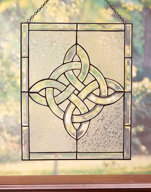 Celtic Cross Glass Window Hanging