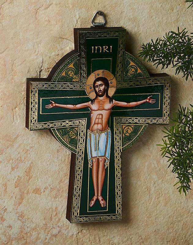 Golden Line Celtic Crucifix