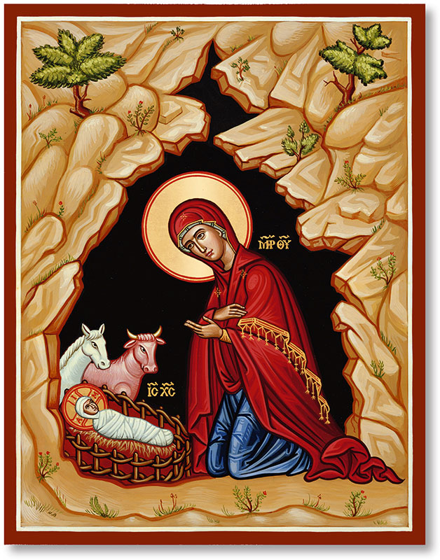 Christ in the Manger Icon