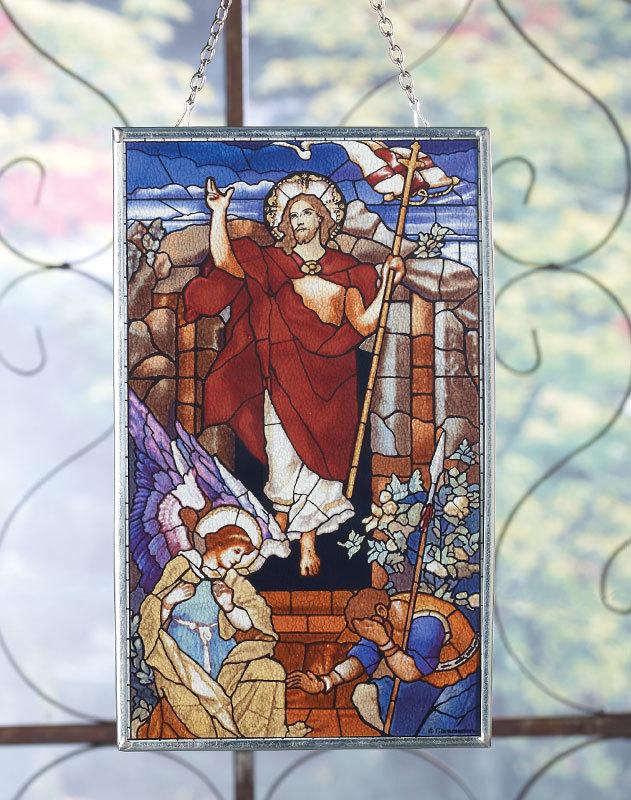 Christ Victorious Glass Suncatcher
